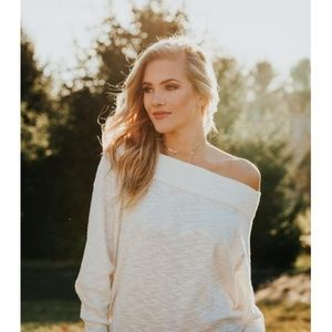 """Womens """"Mia"""" Off The Shoulder Sweater Shirt"""